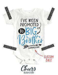 I've Been Promoted To Big Brother Shirt Big Brother To Be Onesie #pregnancyannouncement #bigbrother #littlebrother #siblingshirts
