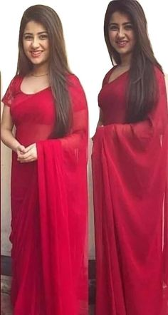 Sarees - Sarees Online, Indian Designer Sarees, Sarees For Women Red Saree Plain, Plain Georgette Saree, Navy Blue Saree, Black Saree, Indian Designer Sarees, Latest Designer Sarees, Designer Dresses, Stylish Sarees, Indian Ethnic Wear