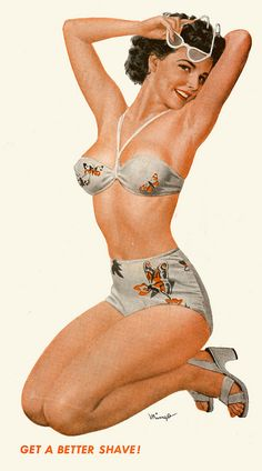 Great butterfly print two-piece. #vintage #swimsuit #summer #1940s