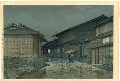 Hasui Kawase - Nissaka on Tokaido 6mm woodblock 1942 - Jun 28, 2020 | Ukiyoe Gallery Japanese Woodblock Prints in GA