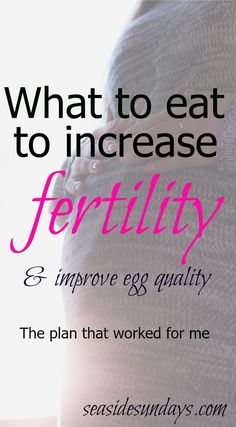 Trying to get pregnant? This plan worked for me after 18 months and 4 IUIs. Invented by an IVF Doctor, it's worth a try. Click through foro all the details and sample meal plans.