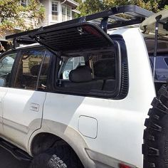 @bbimson just finished his install of the yodaTEQ Gull Wing Hatch System w/Molle Panels The yodaTEQ Gull Wing door replaces the rear windows of the 80 Series Toyota Land Cruiser FJ80 and the Lexus LX450. Easy access to your load area via the side of your vehicle. Molle Panels allow you to install gear: First aid kit, flashlight, small gear bags, etc #yodaTEQ