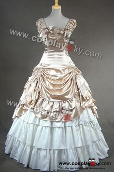 cosplaysky.com: ($120) Southern Belle Satin Wedding Ball Gown Prom Dress 270