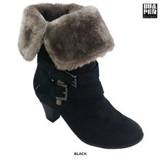 Bumper Belle04 Low Heel Boots with Furry Lining - Assorted Colors at 27% Savings off Retail!
