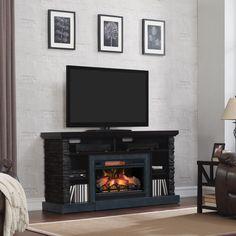 Consola media cu focar electric Infrarosu Quartz si 3D de 26 inch. Fire Prevention, Electric Fires, Electric Fireplace, Real Wood, Storage Shelves, Console, 3d, Home Decor