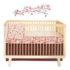 5 pc Skip Hop Mod Dot Complete Sheet Bumper-Free Crib Bedding Set /& Decals NIP