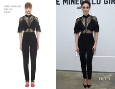 Emmy Rossum In Self-Portrait – 'The Minefield Girl' Audio Visual Book Launch