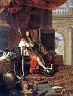 Henri Testelin  - Portrait of Louis XIV, Protector of the Arts
