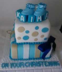 Christening cake by Sheila's Cake Creations Essex Uk