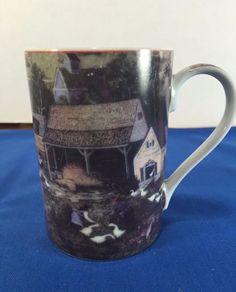 Mug Oil Printing Collection GIFTWARE  40414 Farm Geese Barn Art Country #OilPrintingDesignCollection