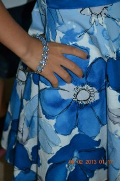 Fitness... Fashion... Family: Blue Accessories for her Blue Dress