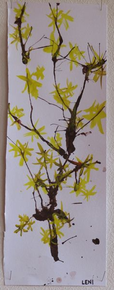 Looks just like Witch Hazel blooming in Winter. Spring Crafts For Kids, Spring Projects, Art For Kids, Art Projects, Kid Friendly Art, Grade 1 Art, Diy And Crafts, Arts And Crafts, Art Curriculum