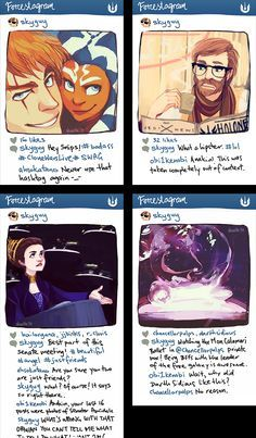 star wars instagram AU by shorelle.deviantart.com on @deviantART It was difficult for me to understand this at first since I don't do Instagram, but this is still funny!