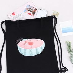 5f94b87e9108 K.K. Live and Let Live - Black Pouch bag collection Pouch Bag