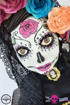 La vida dulce Day of the dead sugar skull - Cake by Perfect Indulgence Cakes