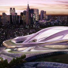 Japan National Stadium for Tokyo 2020 Olympics by Zaha Hadid