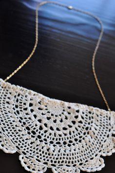 Lace necklace DIY, via Love Maegan