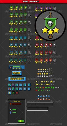 Buy pixel game sprite sheet by corpvs on GraphicRiver. This package includes RPG Interface and coin Sprite,item,Flags,Button, psd format Not includes pixel font. Game Sprite, Ames Tile, Flag Game, Pixel Font, Ui Buttons, 2d Game Art, Pix Art, Button Game, Pixel Art Games