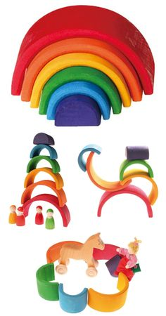 Rainbow Nesting Blocks- LOVE these!!  Need to get them for Christmas this year.