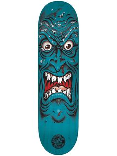 "Mi next skateboard deck: Santa Cruz - Rob Face 8"";  graphics by Jim Phillips"