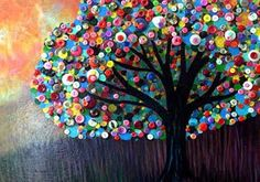 Button art: 10 unusual ideas of buttons in interior decoration. Decor Crafts, Fun Crafts, Diy And Crafts, Crafts For Kids, Arts And Crafts, Recycled Cd Crafts, Tree Crafts, Button Tree, Button Button