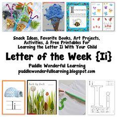 letter themed lesson plan for preschool or pre k letter i