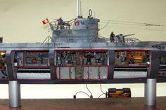 German U-Boat Type VIIC Model #7C (cutaway)