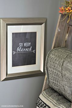 So very blessed free printable typography art