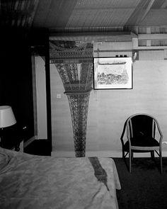 Abelardo Morrell's camera obscura: The Eiffel Tower in the Hotel Frantour, 1999