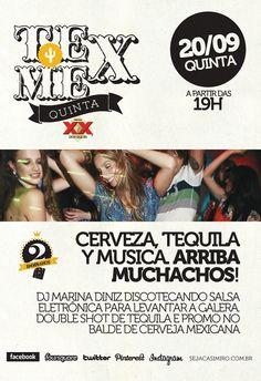 TeX MeX na quinta 20/09, cerveza, tequila e as melhores da música salsa #2anosCasimiros