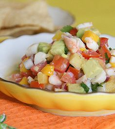 Ceviche..I always eat Ceviche when I'm in the Tropics!