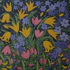 """ Full Bloom"" acrylic 36x36"
