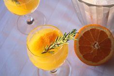 Flu Shot cocktail - orange and rosemary