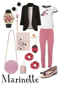"""""""Miraculous Ladybug"""" by disney-star on Polyvore featuring Kate Spade, MSGM, Olivia Pratt, Betsey Johnson, Mint Velvet, Charlotte Olympia, Alex and Ani and Essie"""