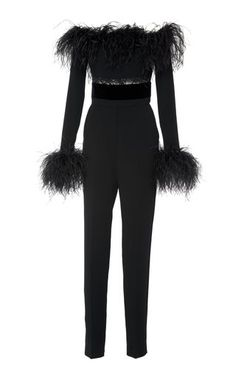 Ostrich Feather Jumpsuit by Elie Saab Fall Winter 2018