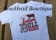 Future Bull Rider Rodeo Applique Boutique by BowHeadBowtiqueInc, $22.00