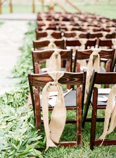 Devil's Thumb Ranch Wedding from Laura Murray Photography. Rustic Wedding Seating, Rustic Wedding Backdrops, Wedding Ceremony Decorations, Wedding Chairs, Ceremony Seating, Wedding Burlap, Our Wedding Day, Chic Wedding, Dream Wedding