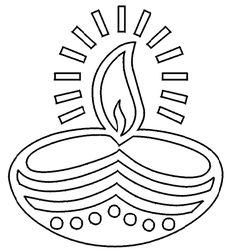 Diwali Coloring Pages: Diwali Lamp Coloring Pages, Deepawali Oil ...