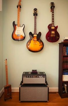 Music Room: guitars out of the way and as added decoration