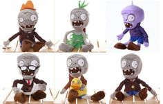 6 X Plants vs Zombies Plush Toys - Newspaper Zombie,Conehead Zombie,Ducky Tube Zombie,Green Dress Zombie,Grey Zombie,Purple Zombie 26cm Toys http://www.amazon.com/dp/B00DGM66SO/ref=cm_sw_r_pi_dp_yurhub0JJF065