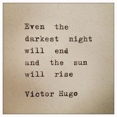 Victor Hugo Quote Typed on Typewriter