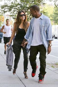 I know they're the most hated celebrities but Kim and Kanye are the cutest couple ever.