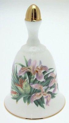 Danbury-Mint-Sumner-Collection-Wildflower-Bells-Iris-Design-June-CLT343