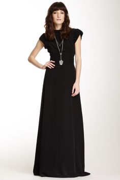 Maggie Puff Sleeve Silk Maxi Dress on HauteLook