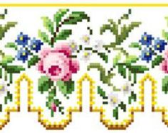 Rose panel. Cross stitch pattern PDF. Instant by rolanddesigns