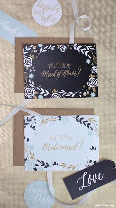 Will you be my bridesmaid printable cards
