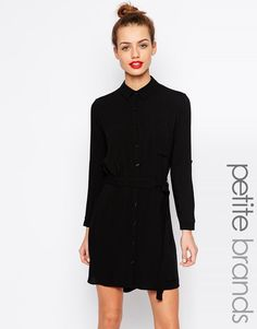 New Look Petite | New Look Petite Shirt Dress at ASOS