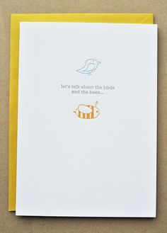 Birds and Bees Letterpress Pregnancy by ImpressedDesign on Etsy, $5.00