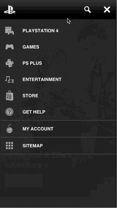 A new mobile navigation menu ¶  Converting the desktop dropdown nav ¶  I designed this menu for PlayStation.com