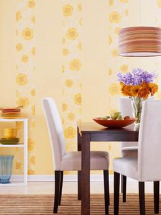 Strips of wallpaper